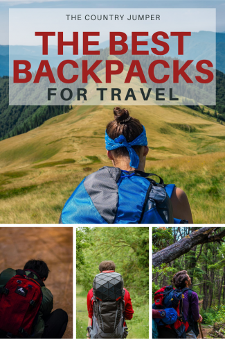 the best backpacks for travel Pinterest pin from the country jumper