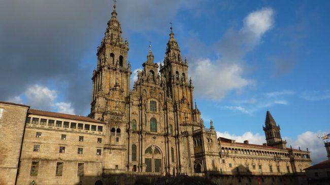 large church in Spain against blu esky