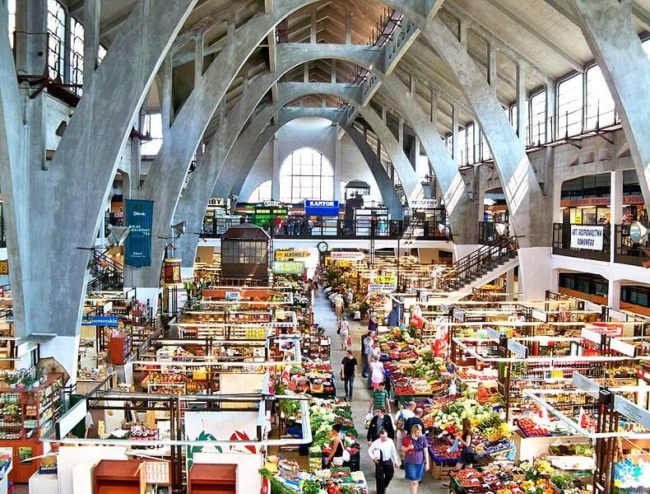 aerial view of market hall