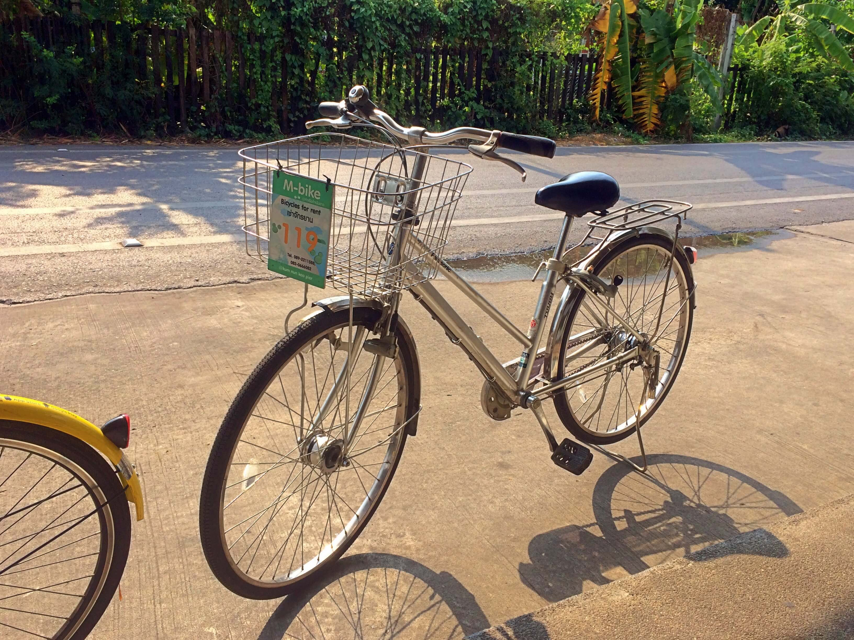 bike on dirt road outside of bangkok