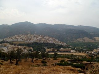 view across the valley of Moulay Idriss
