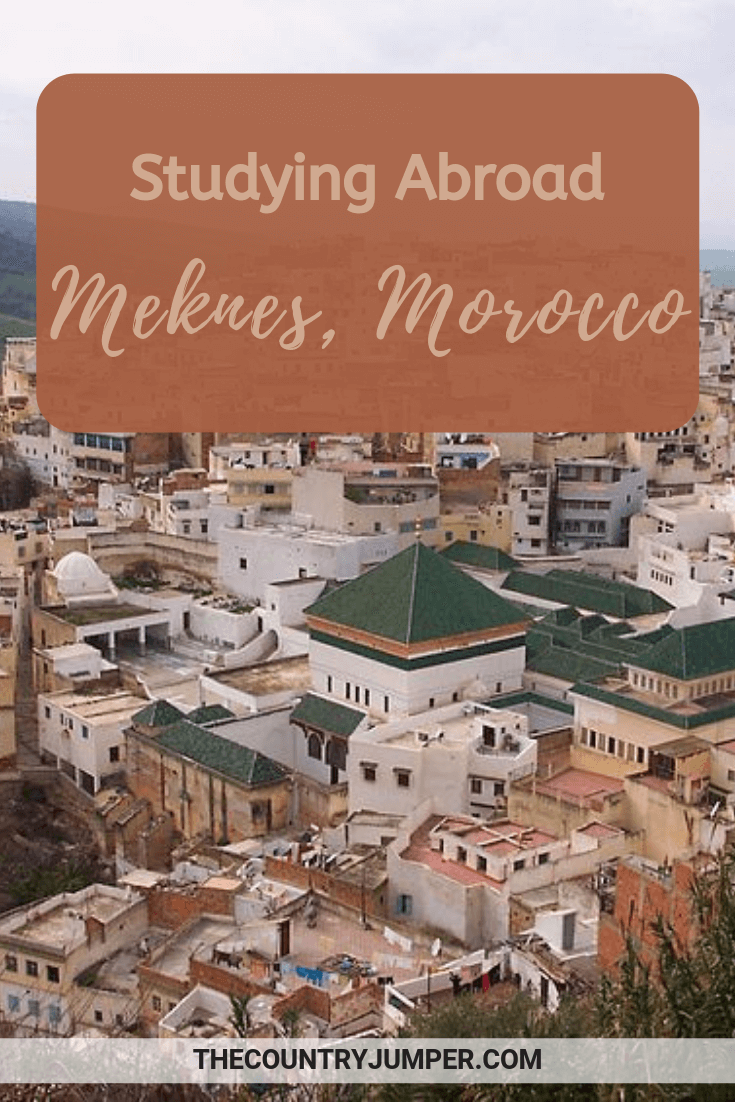 Pin for study abroad in Morocco