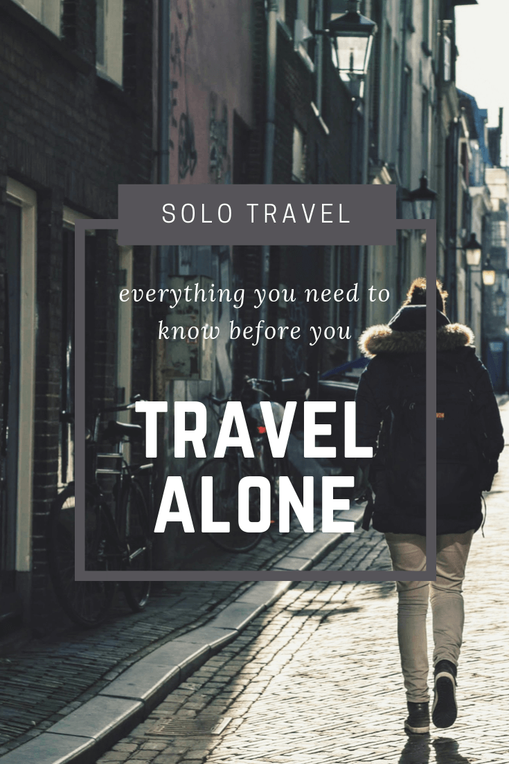 Solo travel tips Pinterest pin