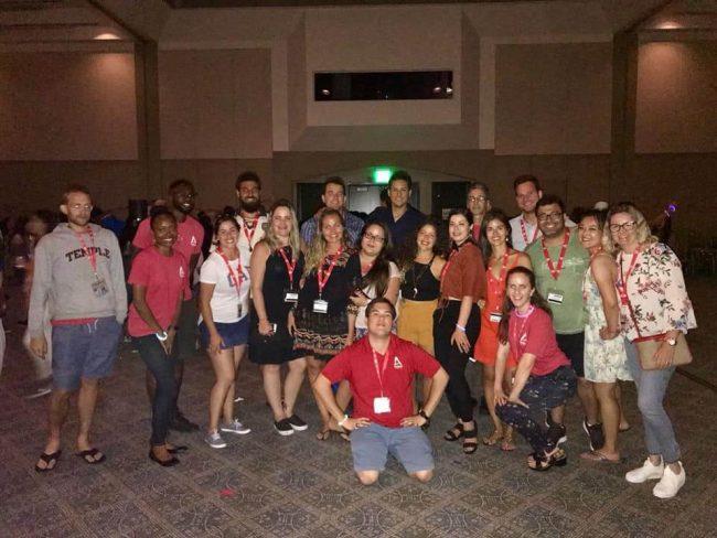 staff at esl summer camp in LA