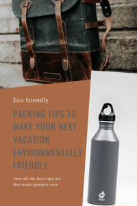 If you're looking for way to make your footprint less when you travel, you need to look inside your bag. Are you packing smartly and reducing your waste as much as possible? Here are the top tips for how to pack for a more eco friendly trip. #ecojourney #sustainabletravel