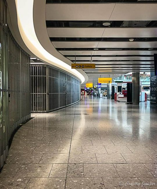 Heathrow terminal 5 empty during lockdown coronavirus pandemic